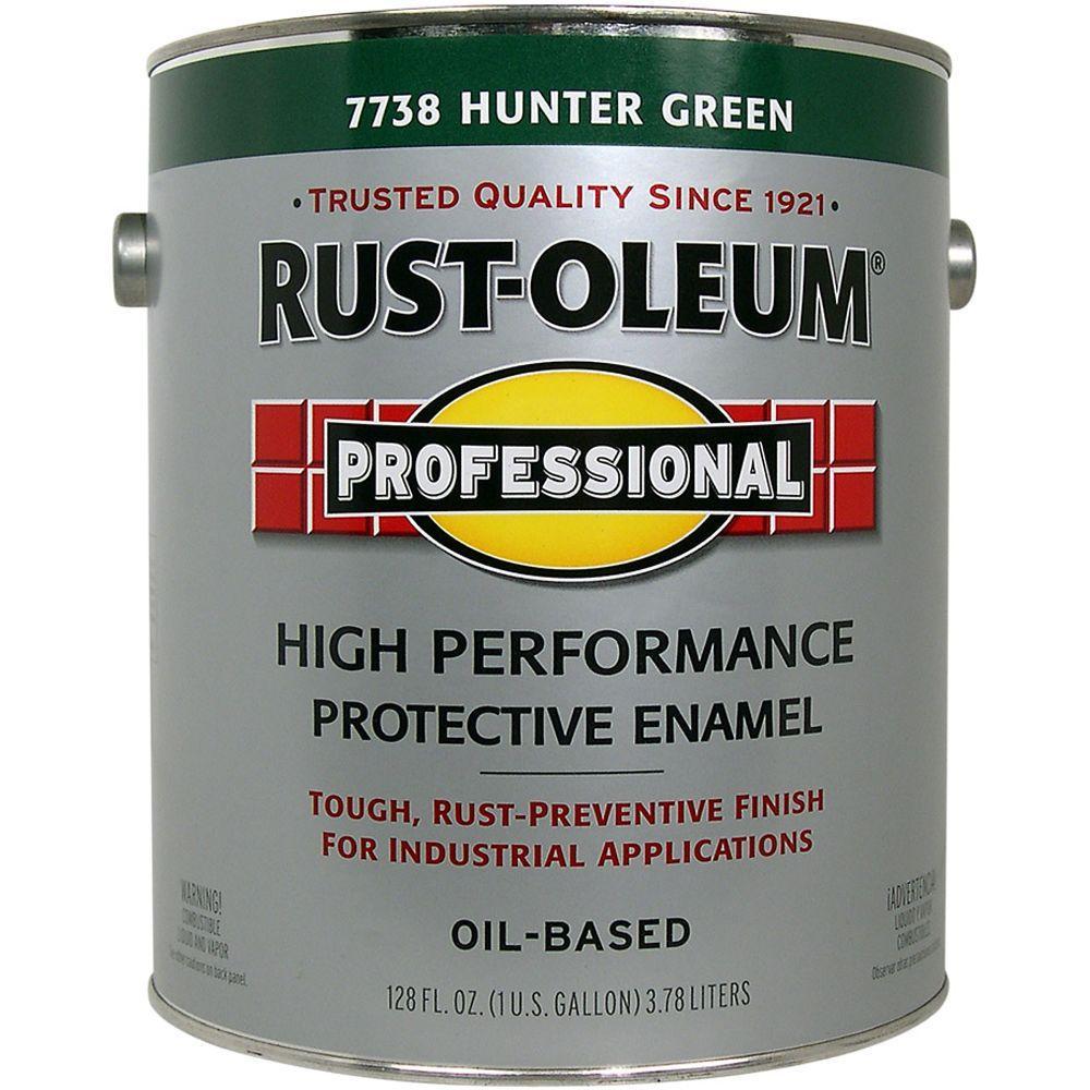 Rust-Oleum Professional Gloss Hunter Green 1 Gallon Oil Based Enamel-DISCONTINUED