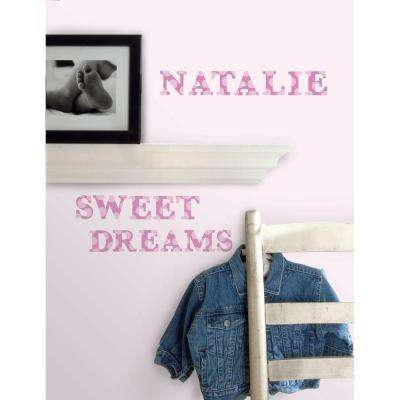 5 in. x 11.5 in. Express Yourself Pink Peel and Stick Wall Decal