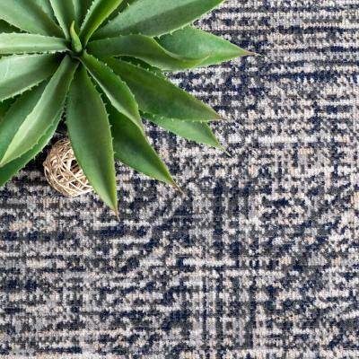 Vada Simple Striated Fringed Gray 9 ft. x 12 ft. Indoor/Outdoor Area Rug