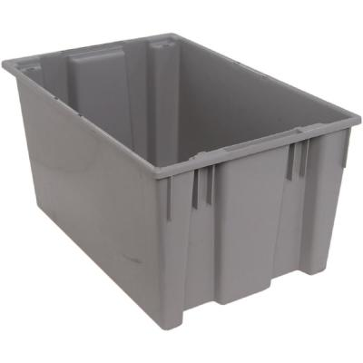 27-Gal. Genuine Stack and Nest Tote in Gray (Lid Sold Separately) (3-Pack)