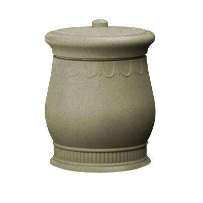 Savannah 23 in. x 23 in. x 32 in. Polyethylene Urn Waste and Storage Bin in Sandstone
