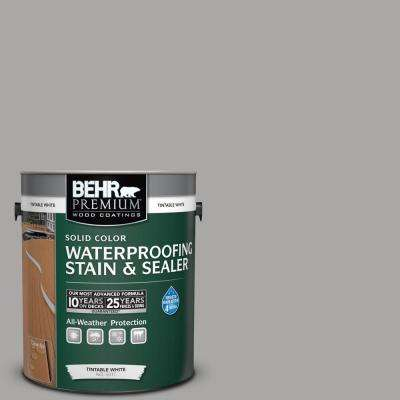 1 gal. #PFC-68 Silver Gray Solid Color Waterproofing Exterior Wood Stain and Sealer