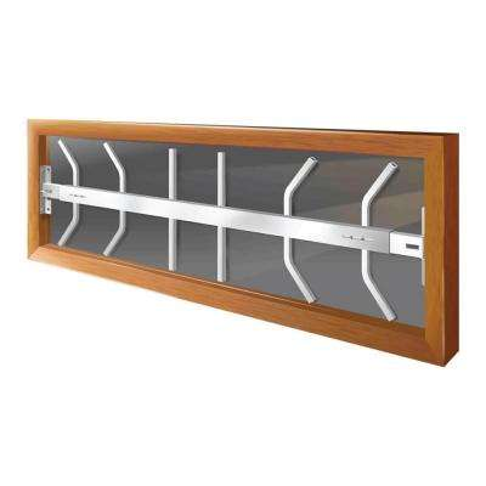 Swing-Away 42 in. to 54 in. Adjustable Width 1-Bar Window Guard, White