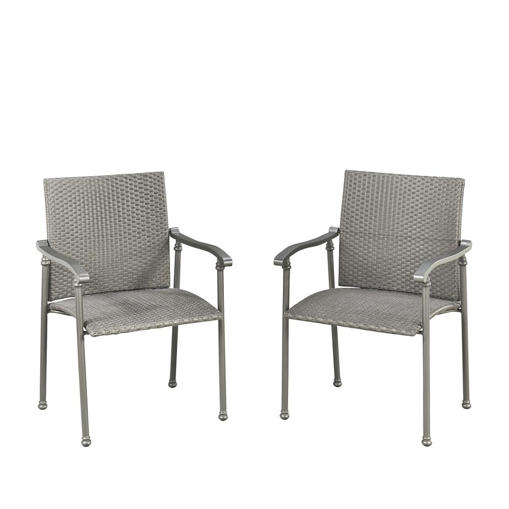 Umbria Synthetic-Weave Outdoor Dining Chair (Pack of 2)
