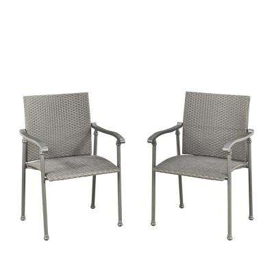 Umbria Synthetic Weave Outdoor Dining Chair (Pack Of 2)