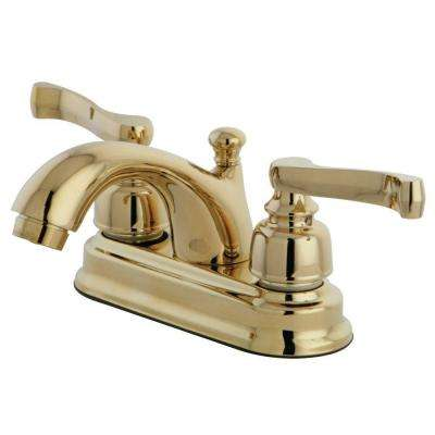 Royale Classic 4 in. Centerset 2-Handle Mid-Arc Bathroom Faucet in Polished Brass