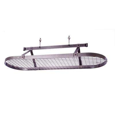 Premier 5 ft. Oval with Grid in Hammered Steel