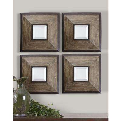 16 in. x 16 in. Wood Framed Mirror