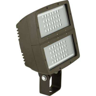 200-Watt Bronze Integrated LED Outdoor Flood Light
