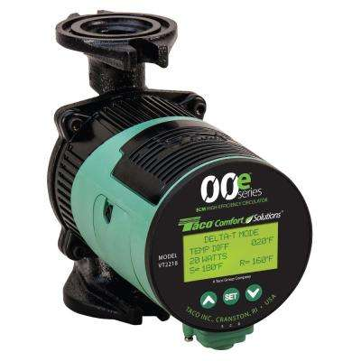 ECM Delta-T Variable Speed Circulator Pump with Standard Flange Orientation
