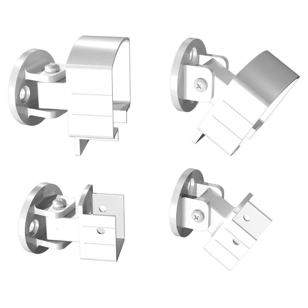 Peak Aluminum Railing White Aluminum Universal Connector