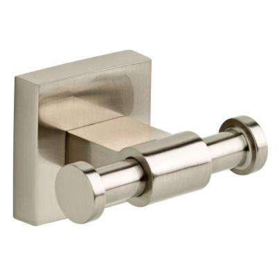 Maxted Double Towel Hook in Brushed Nickel
