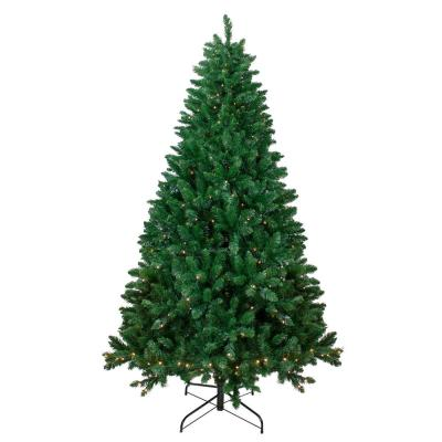 6.5 ft. Pre-Lit Twin Lakes Fir Artificial Christmas Tree with Warm White LED Lights