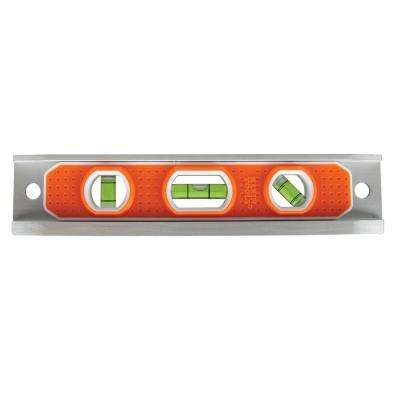 9 in. Aluminum Torpedo Level with Rare Earth Magnet