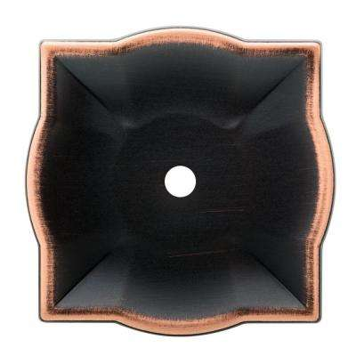 Quatrefoil 2 in. Venetian Bronze with Copper Highlights Cabinet Knob Backplate