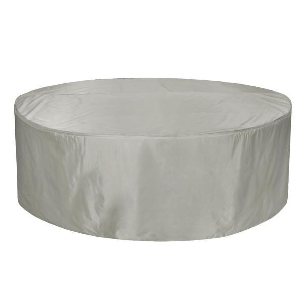 Bonanza 70 in. Grey Round Table and Chair Cover
