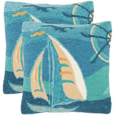 Seascape Soleil Square Outdoor Throw Pillow (Pack of 2)