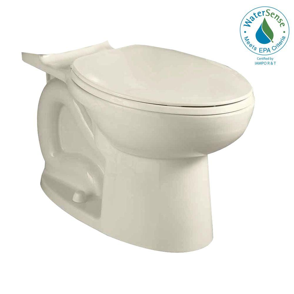 American Standard Compact Cadet 3 Elongated Toilet Bowl Only in Linen-DISCONTINUED