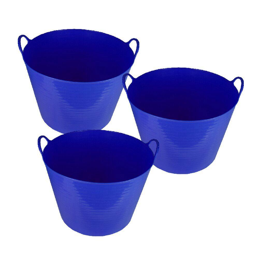 26 Qt. Storage Tote In Blue (3 Pack)