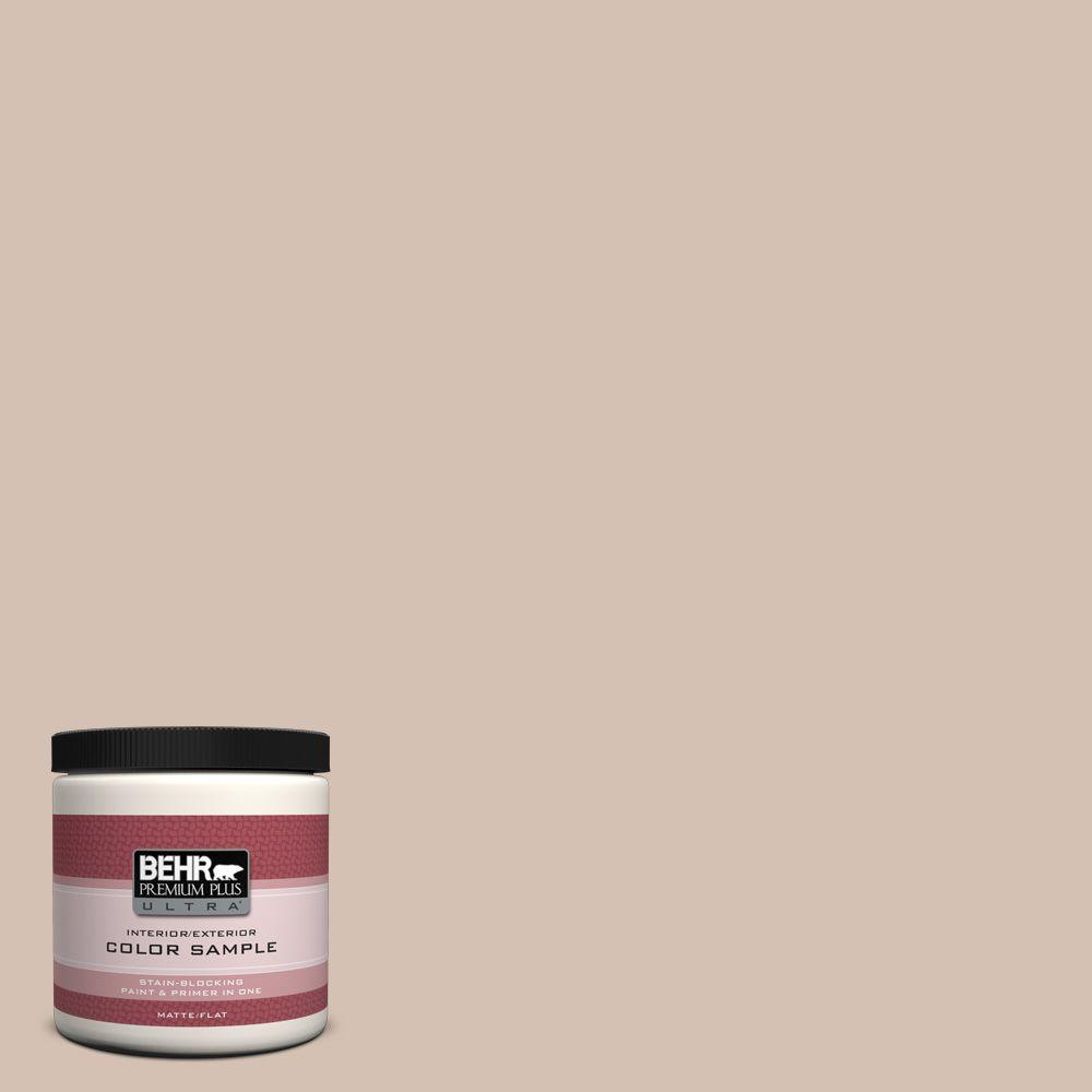 BEHR Premium Plus Ultra 8 oz. Home Decorators Collection Avenue Tan Interior/Exterior Paint Sample