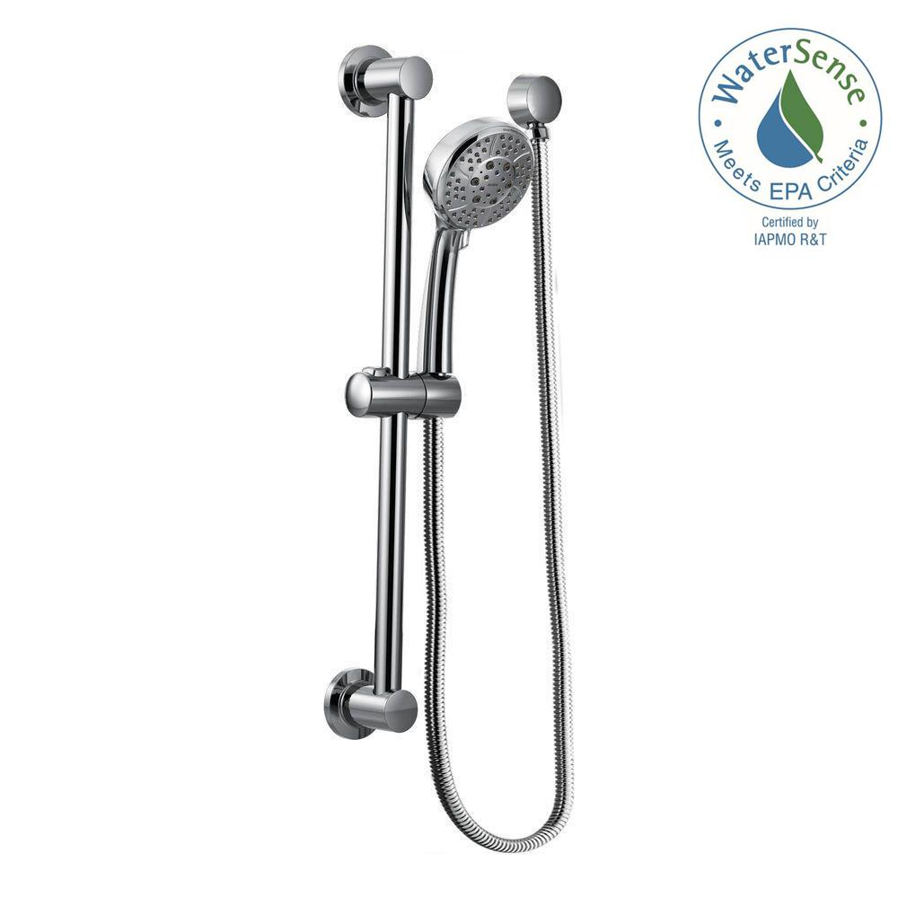 4-Spray 4 in. Eco-Performance Handheld Handshower with Slidebar in Chrome