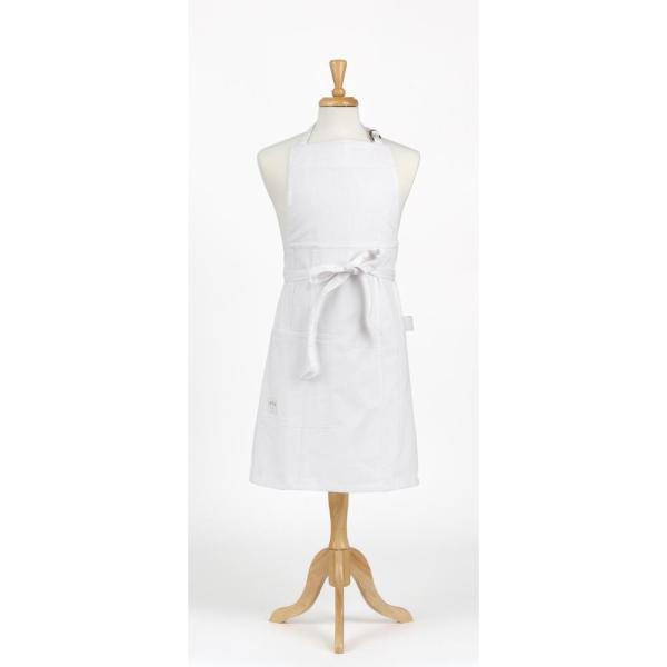 ASD Living Durable Denim Adult Butcher Apron, White 01-225