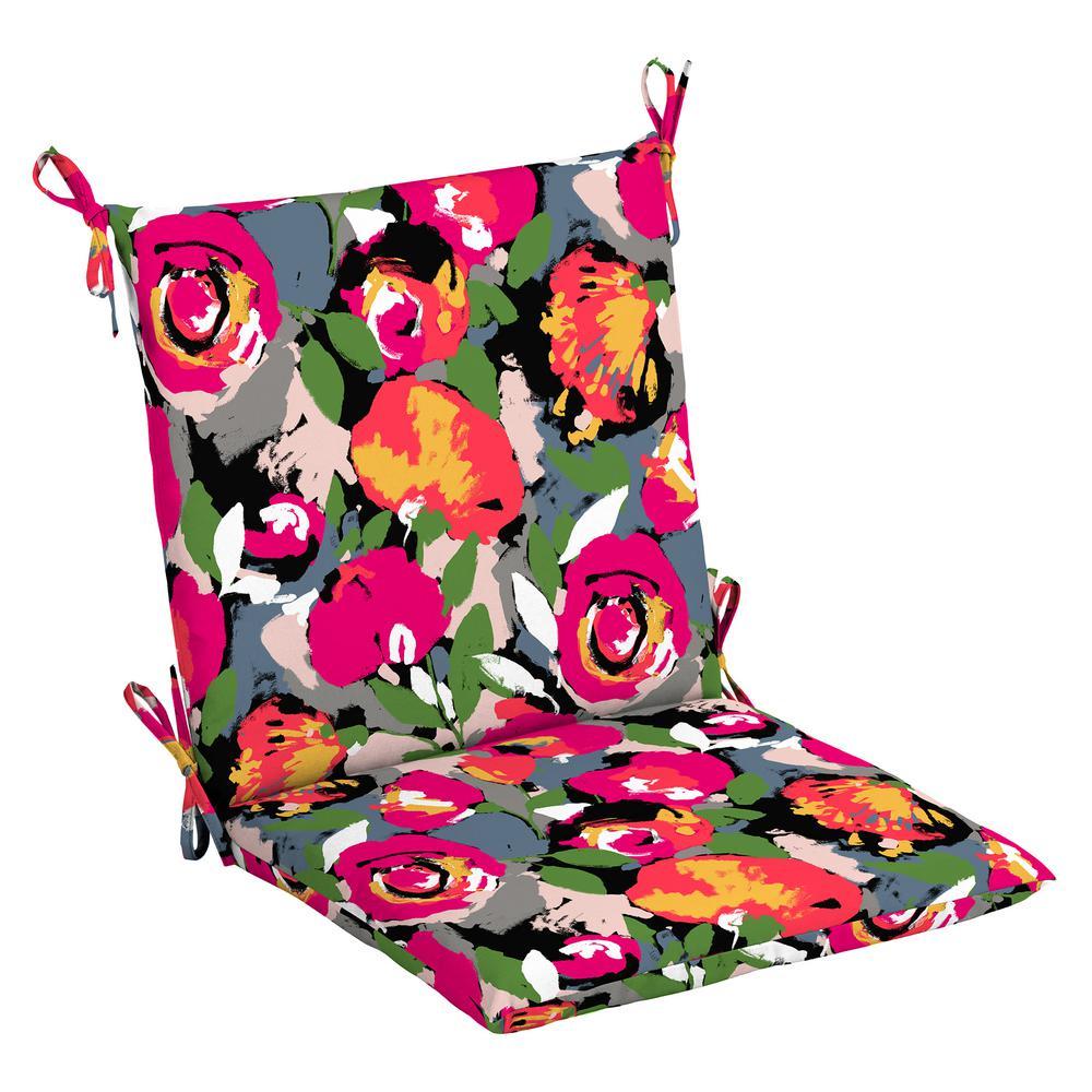 Hampton Bay 20 in. x 19 in. Vista Mesa Outdoor Mid Back Dining Chair Cushion