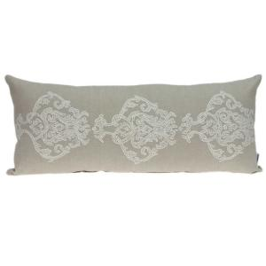 Homeroots Jordan 12 In Beige Damask And Toile Throw Pillow