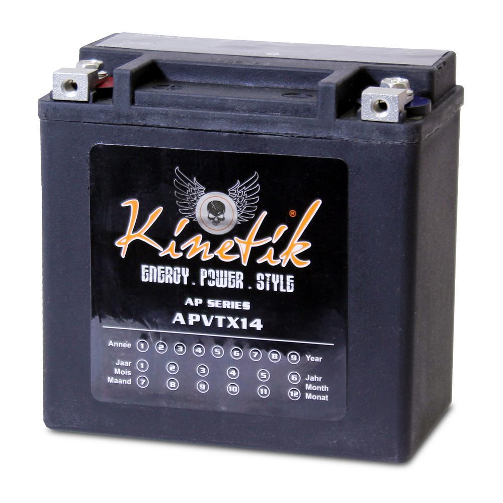 Sealed AGM V-Twin Heavy Duty 12-Volt 12 Ah Capacity HD Terminal Battery