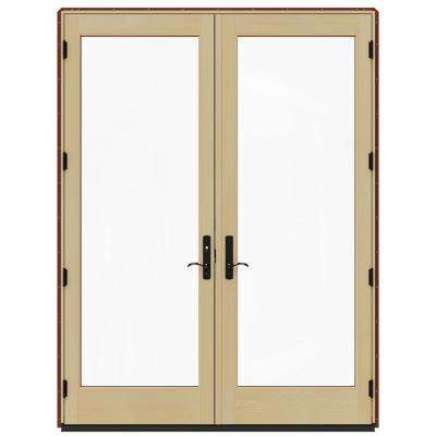 72 x 96 right handinswing french patio door patio doors 72 in x 96 in w 4500 red clad wood right hand planetlyrics Choice Image