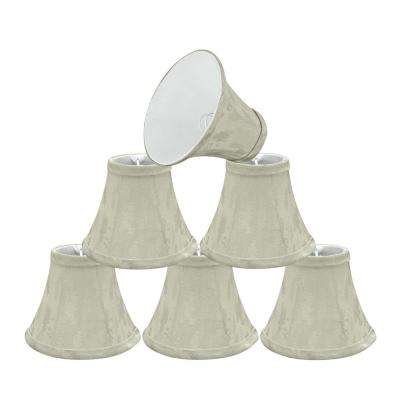 6 in. x 5 in. Butter Creme Bell Lamp Shade (6-Pack)