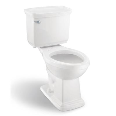 Designer 2-Piece 1.28 GPF Single Flush Elongated Toilet in White Seat Not Included
