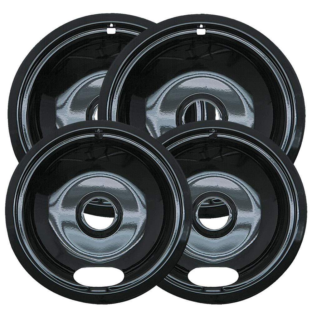 6 in. 2-Small and 8 in. 2-Large A Style Drip Pan