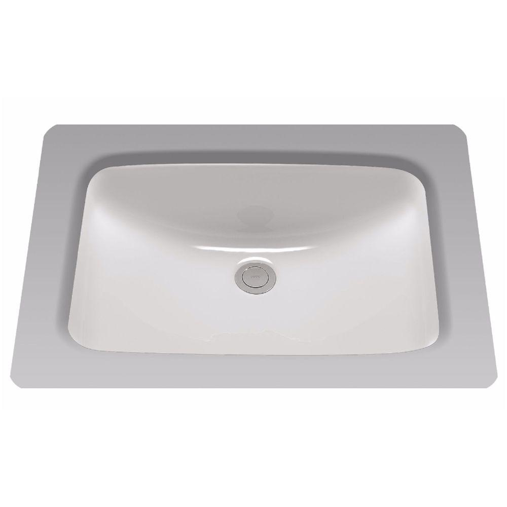 toto 19 in undermount bathroom sink with cefiontect in 20996