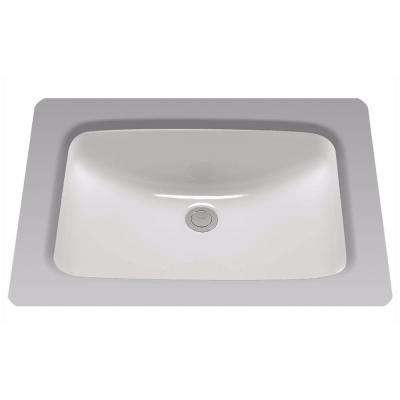 19 in. Undermount Bathroom Sink with CeFiONtect in Cotton White