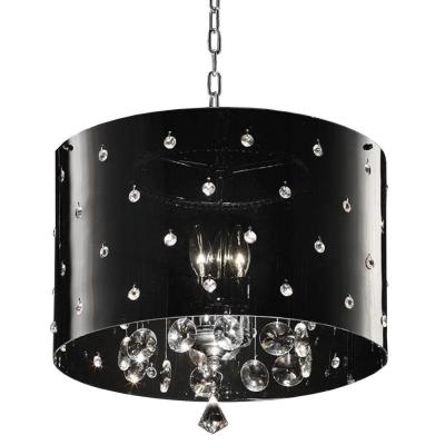 1-Light Silver Star Crystal Ceiling Lamp