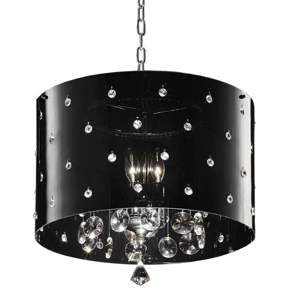 1-Light Silver Star Crystal Ceiling Lamp