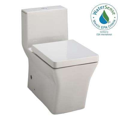 Reve 1-piece 0.8 or 1.6 GPF Dual Flush Elongated Toilet in White