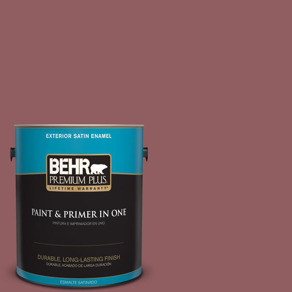1-gal. #S130-6 Spiced Potpourri Satin Enamel Exterior Paint