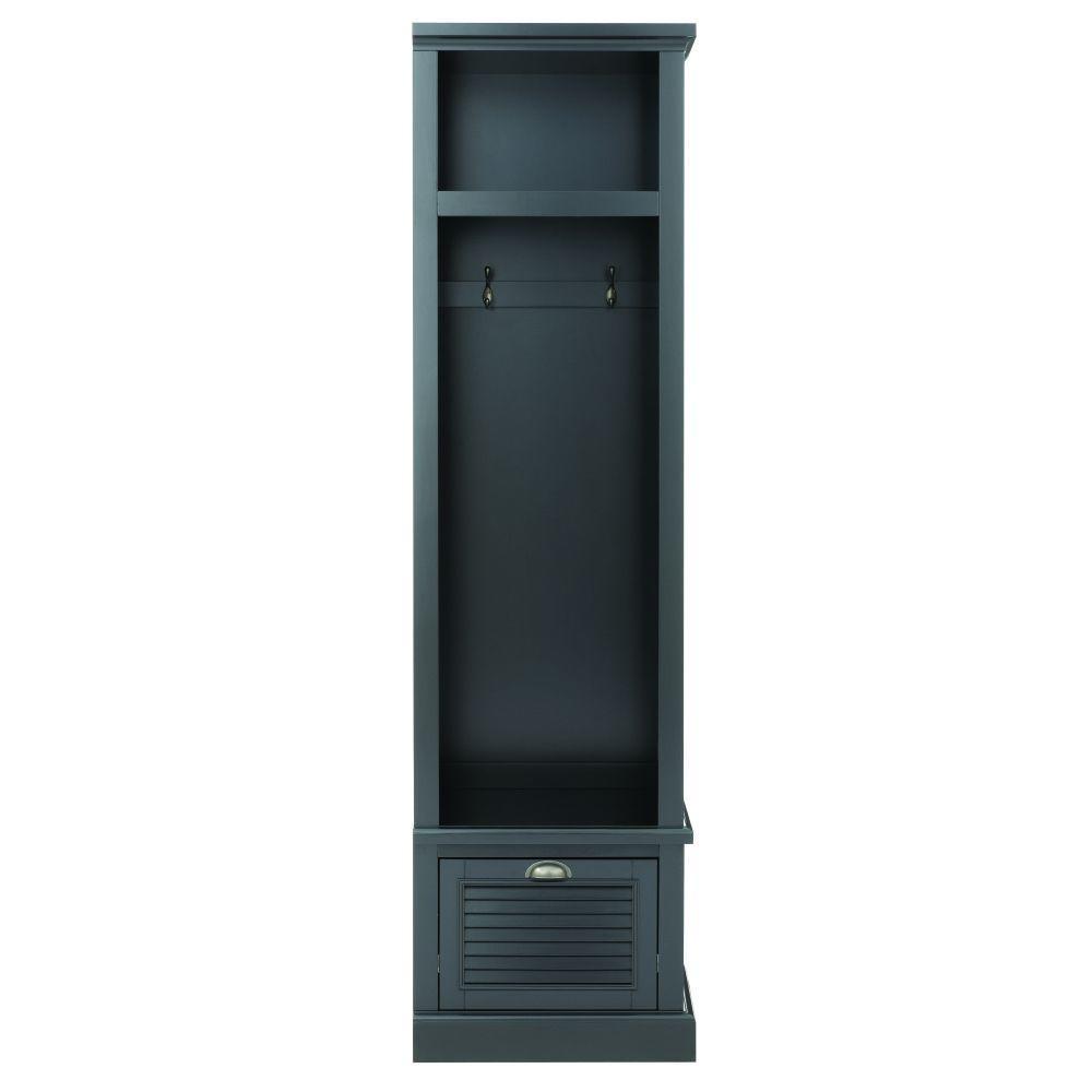 Shutter 74 in. H x 20 in. W x 18 in. D Modular Open Right Locker in Worn Black
