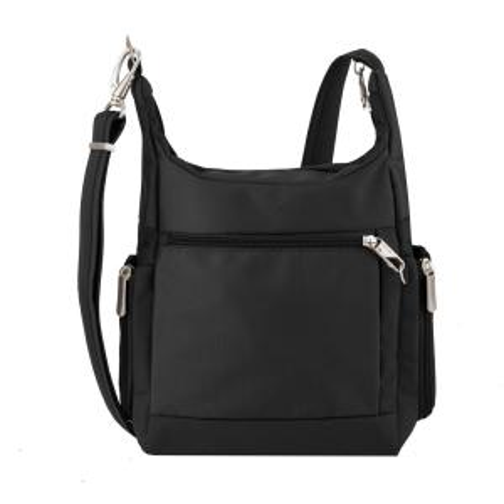 Internet 305949963 5 Travelon Anti Theft Black Poly Messenger Bag