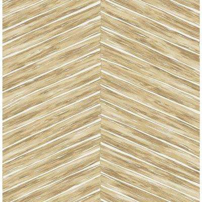 Pina Brown Chevron Weave Strippable Roll (Covers 56.4 sq. ft.)