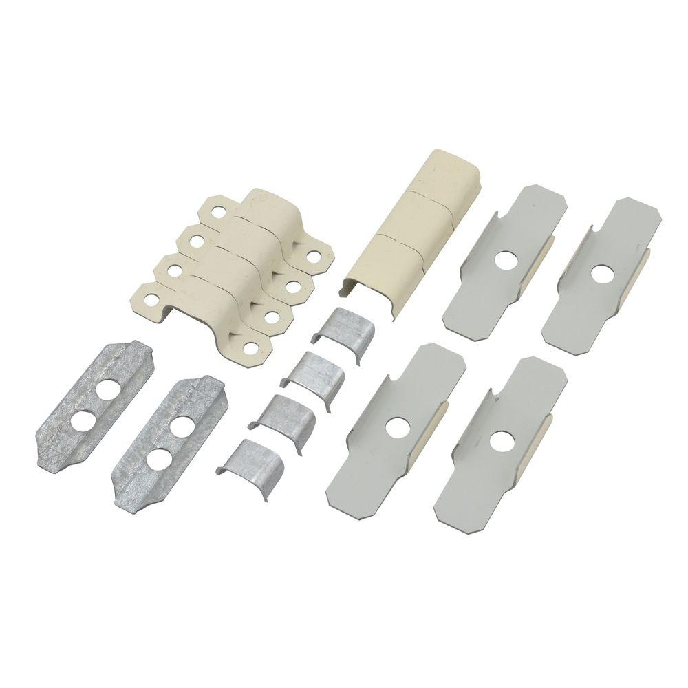 Legrand Wiremold 500 Series Metal Surface Raceway Accessory Set, Ivory