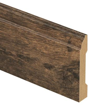 Rustic Espresso Oak 9/16 in. Thick x 3-1/4 in. Wide x 94 in. Length Laminate Base Molding