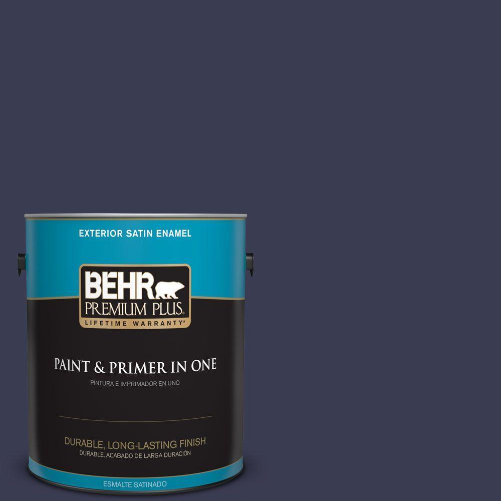1 gal. #HDC-WR16-03 Blueberry Tart Satin Enamel Exterior Paint
