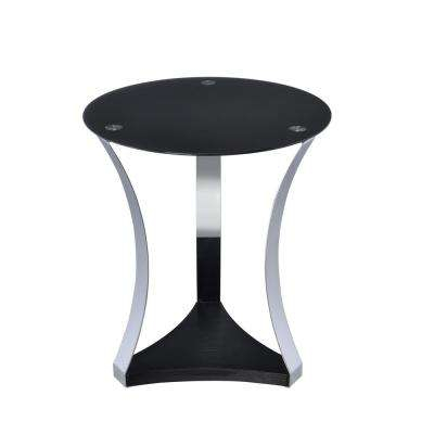 Geiger Rose Gold and Black Glass Top End Table