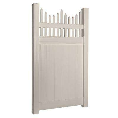 Louisville 3.7 ft. W x 5 ft. H Tan Vinyl Privacy Fence Gate