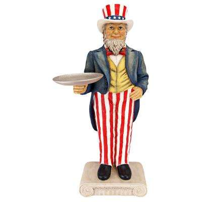 Uncle Sam Yankee Doodle Dandy Butler Sculptural Pedestal Table