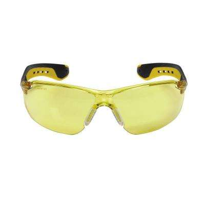 Flat Temples with Amber Lenses Safety Glasses