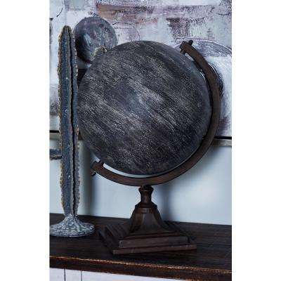 18 in. Decorative Globe with a Brown Base